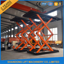 China Underground Parking Car Storage Lifts Mobile Car Scissor Lift Hydraulic System factory