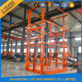 China 5T 6m Warehouse Hydraulic Guide Rail Freight Lift Elevator Vertical Goods Lift With CE TUV distributor
