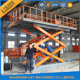 China 4.7M 3T Hydraulic Scissor Car Lift , Electric Car Parking Lift CE TUV SGS Home Use distributor