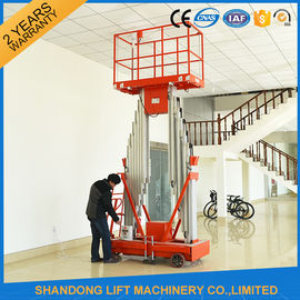 China 200kg Capacity 12m Height Hydraulic Aluminium Ladder Aerial Work Platform Lift With CE distributor