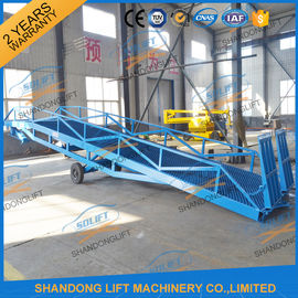 China 6T-15T Adjustable Warehouse Loading Ramp Mobile Container Yard Ramp CE SGS TUV distributor