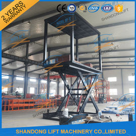 China 6T 3M Double Deck Car Parking System , Underground Hydraulic Scissor Car Lift For 2 Cars TUV distributor