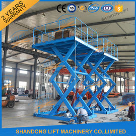 China 3T 5M Warehouse Cargo Lift Material Loading Hydraulic Scissor Lift Platform distributor