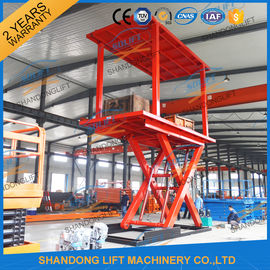 China 3T+3T Double Deck Hydraulic Scissor Car Garage Lift For Basement With CE SGS TUV distributor