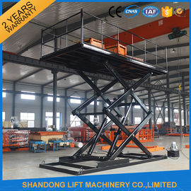China Professional Garage Heavy Duty Hydraulic Scissor Car Lift Elevator 24 Months Warranty distributor