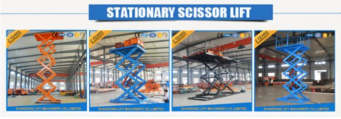 CE 5.5kw Power Electric Stationary Hydraulic Scissor Lift for Warehouse Cargo Loading