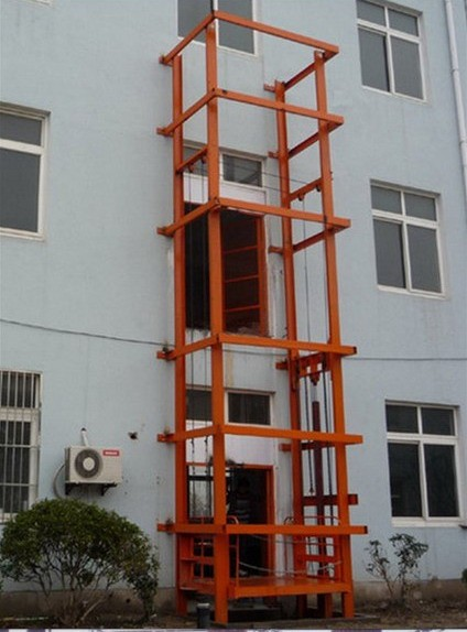Outside Electric Hydraulic Heavy Duty Elevator Lift with 2 m x 2 m Platform Size