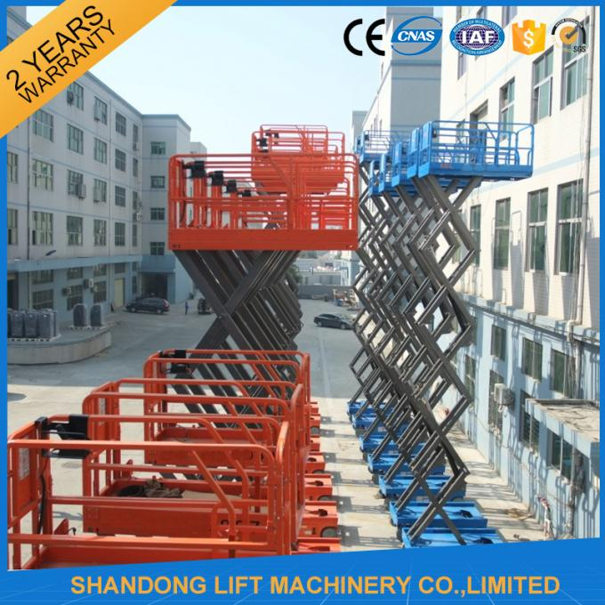 6m Electric Mini Scissor Lift Self Propelled Elevating Work Platforms CE ISO9001 SGS