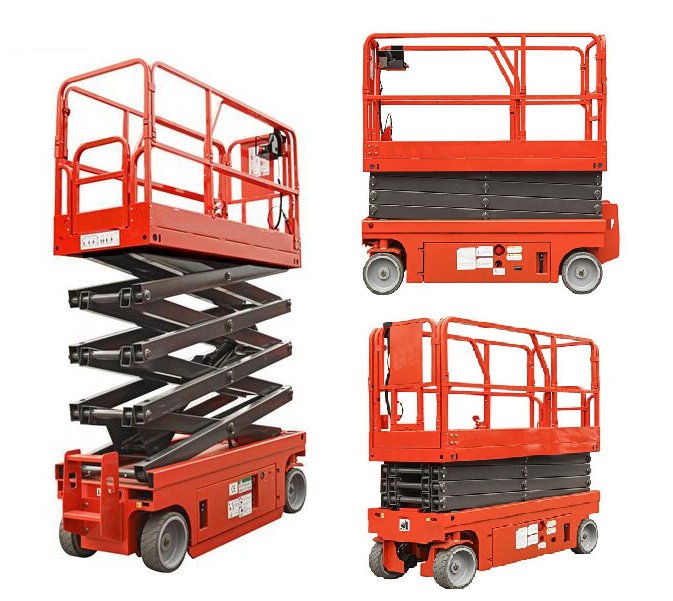 Self Propelled Elevating Work Platforms , CE Hydraulic Electric Aerial Lift Scaffolding