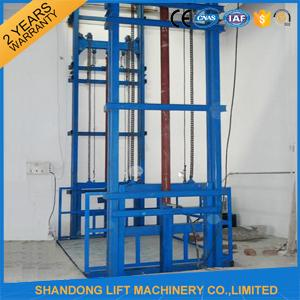 3000kgs Warehouse Hydraulic Elevator Lift , Vertical Fixed Residential Cargo Stair Lift