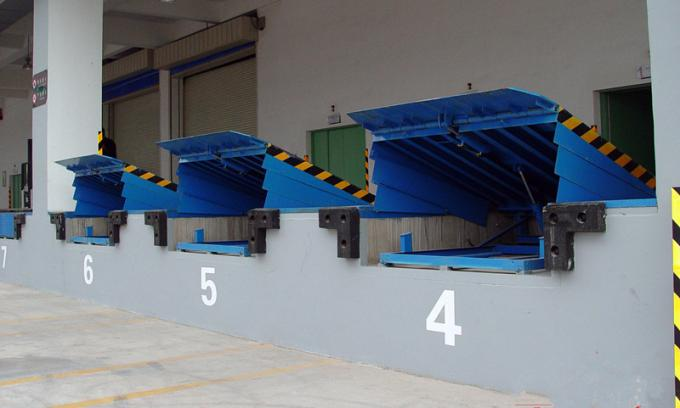 Warehouse Loading Dock Lift Systems , 8 Ton Steel Yard Ramp Truck Dock Leveler