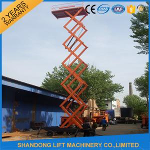 Electric Hydraulic Lift Table , Mobile Aerial Work Lifting Platforms Equipment for Building Cleaning