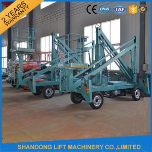Hydraulic Mobile Articulated Trailer Mounted Boom Lift with Battery / Diesel Power Source
