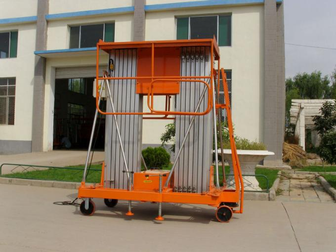double the mast aluminum alloy lift/Aerial vertical work platform dual wast