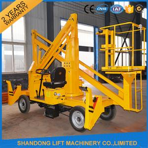 360 Rotation Self Propelled Trailer Mounted Boom Lift with Hydraulic Crank Arm