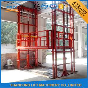 Construction Material Handling Warehouse Elevator Lift 2 T Loading Capacity