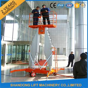 Single Four Mast Aluminum Alloy Aerial Work Platform Lift For Aerial Work CE Hydraulic