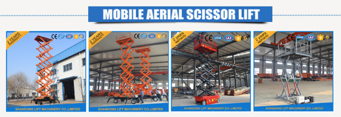 Electric Hydraulic Mobile Platform Lift for Aerial Work / Decoration / Street Lamp Maintenance