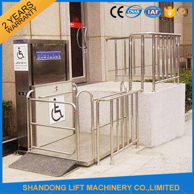 Home Stair Elevator Wheelchair Platform Lift with Self Resetting System Drive Control