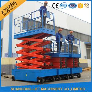 Hydraulic Auto Self Propelled Elevating Work Platforms with LED Battery Condition Indicator