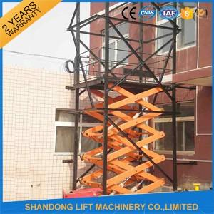 Electric Hydraulic Guide Rail Warehouse Elevator Lift Platform 5000kg Loading Capacity
