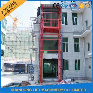 Hydraulic Vertical Warehouse Industrial Lifts Elevators with 10 m Guide Rail CE