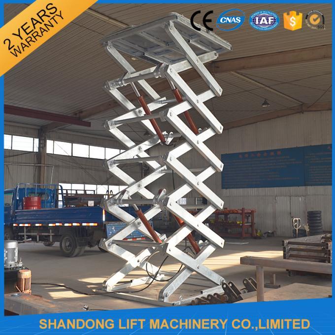 Hot Dip Galvanized Stationary Hydraulic Scissor Lift