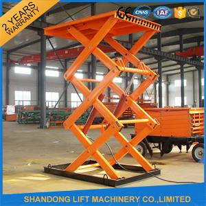 Double Heavy Duty Stationary Hydraulic Scissor Lift For