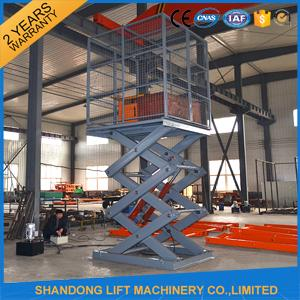 Stationary Hydraulic Scissor Lift , 4.8m Height Material Loading Warehouse Industrial Lift Table
