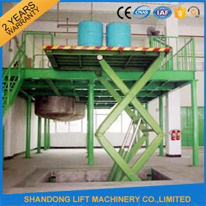 CE Hydraulic Stationary Scissor Lift Work Table for Warehouse Cargo Lift