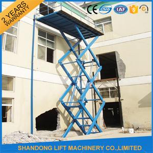 Fixed Stationary Hydraulic Scissor Lift Tables used for Cargo