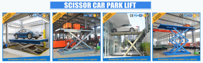 Red 5T 3.5M Electric Hydraulic Scissor Car Lift for Car Parking