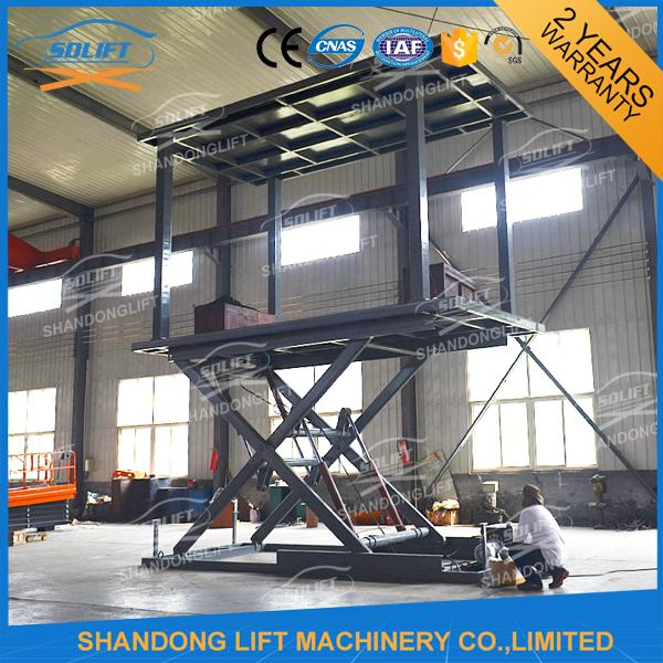 Hydraulic Scissor Double Deck Car Parking System 2.5T Loading 3.3m Lifting Height