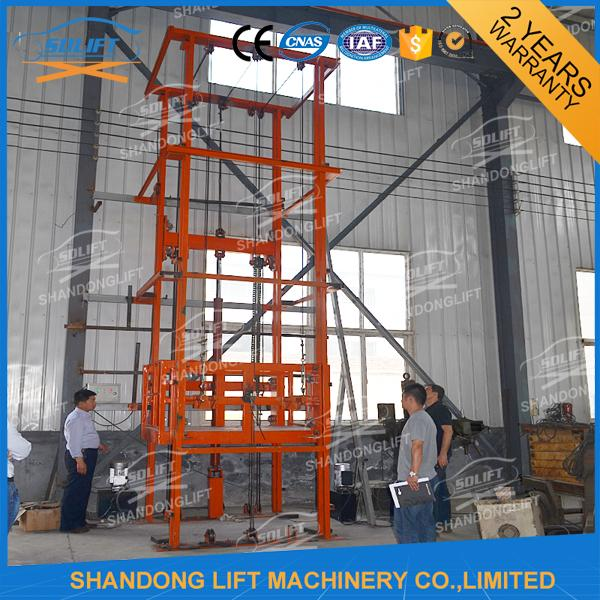 2.5T 3.6m Warehouse Hydraulic Elevator Lift for Goods , 3-6m/min