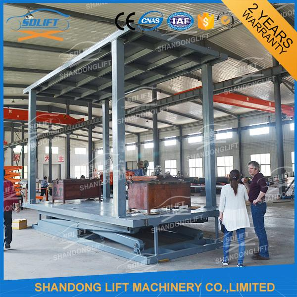 3T Double Deck Car Parking System 2 Car Stacker for Private Villa Double Car Parking Lift