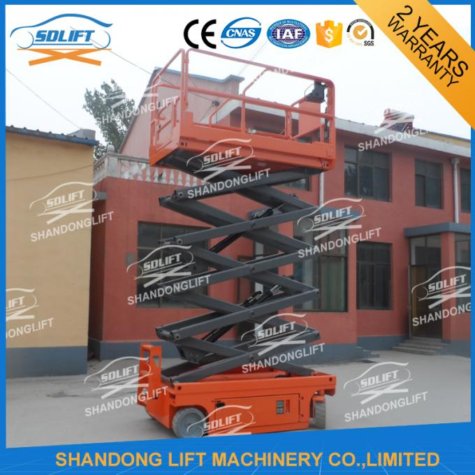 Electric Battery Power Scissor Lift Self - propelled Mobile