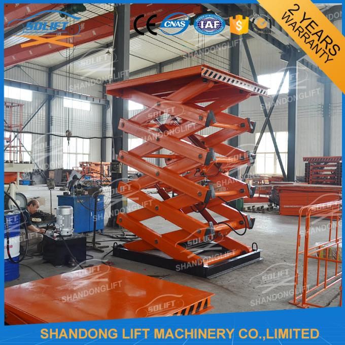 2T 7M CE Electric Stationary Hydraulic Scissor Lift / Material Handling Lifts