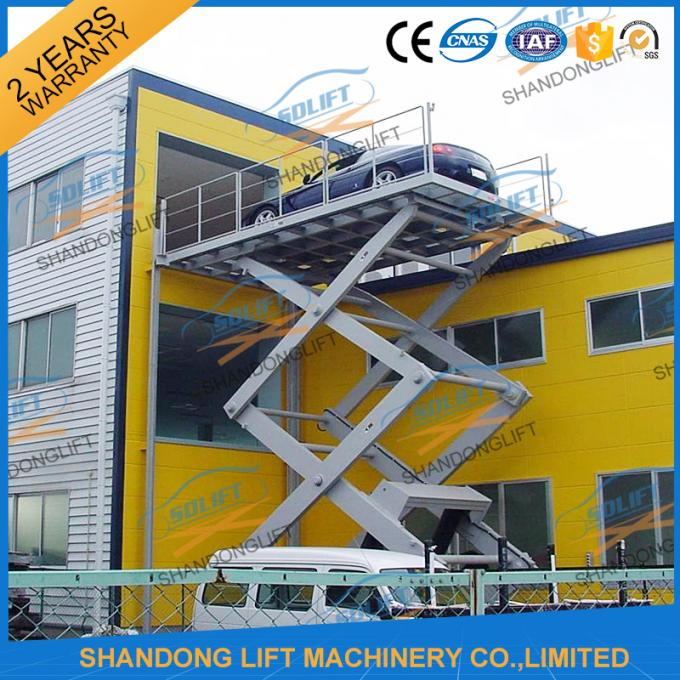 4.7M 3T Hydraulic Scissor Car Lift , Electric Car Parking Lift CE TUV SGS Home Use