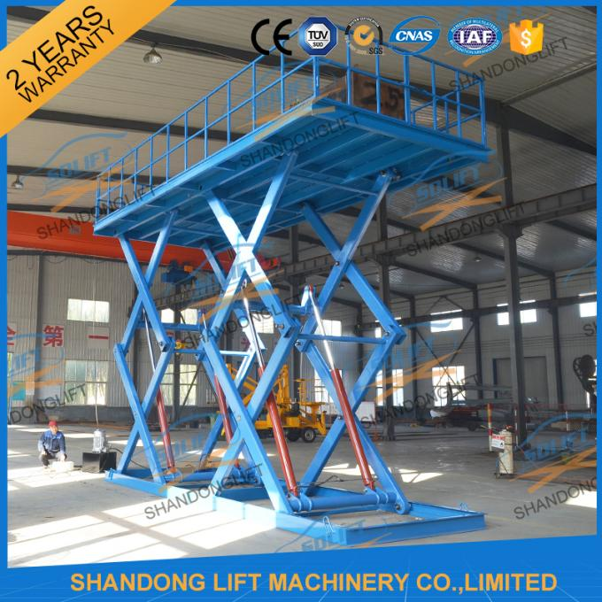6T 5M Heavy Duty CE Hydraulic Scissor Lift Hydraulic Large Scissor Cargo Lift