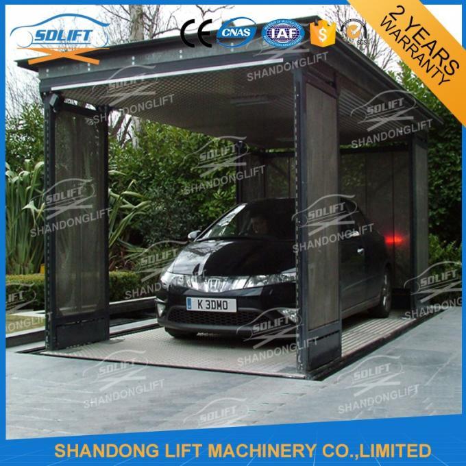 5t 3m Hydraulic Car Lift For Home Garage Basement 2 Car Parking