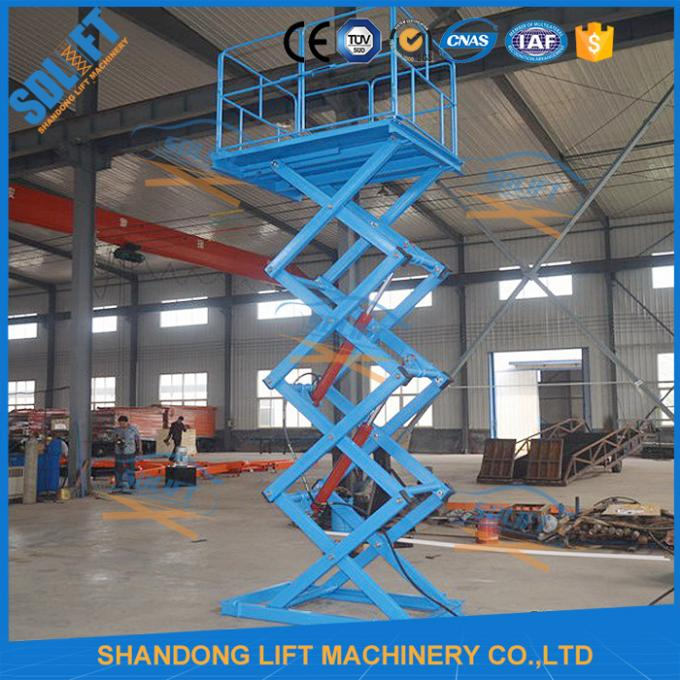 1.5T 3.8M Stationary Hydraulic Scissor Lift , Scissor Lifting Equipment SGS TUV