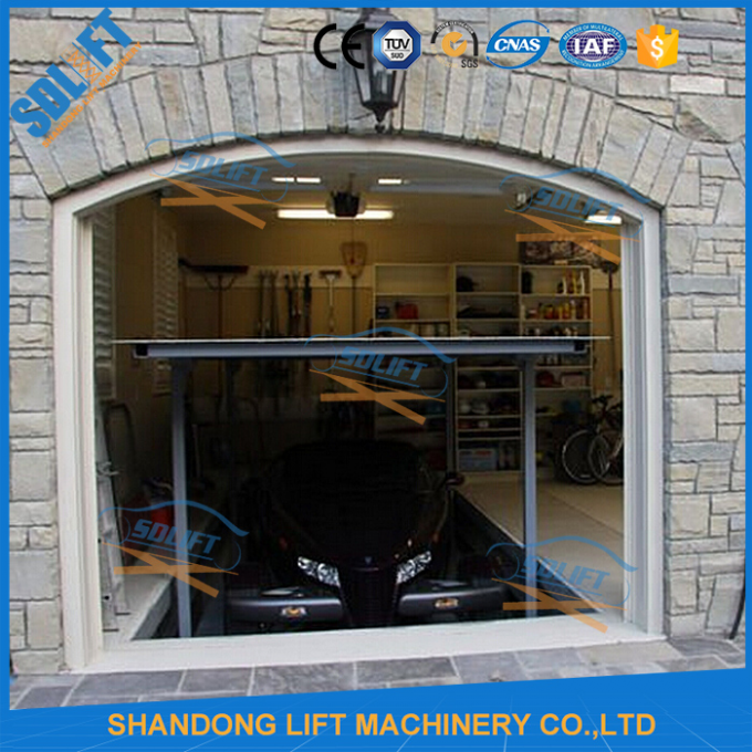 3T+3T 3M Double Deck Car Parking System , Double Platform Scissor Car Lift for Home Garage