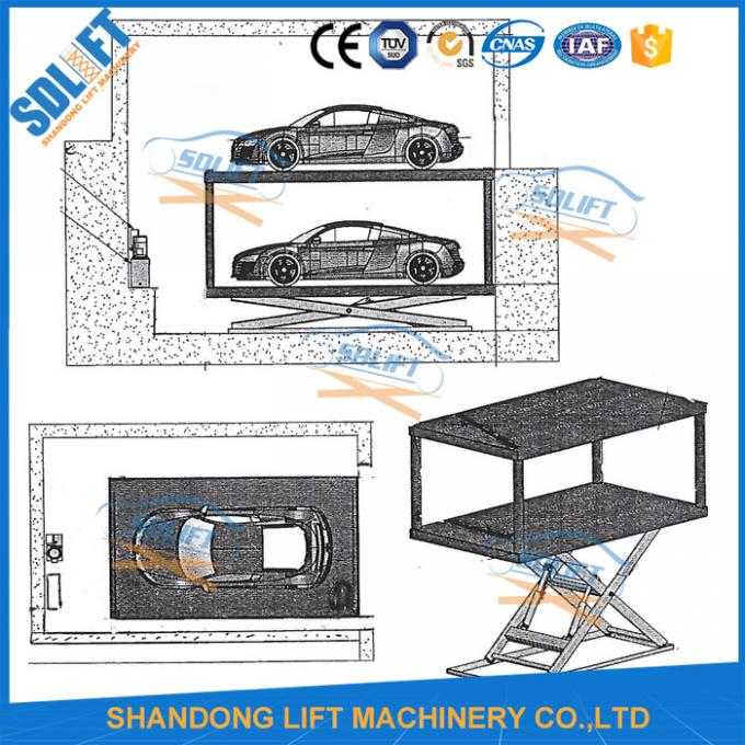 3t 3t 3m Double Deck Car Parking System Double Platform Scissor