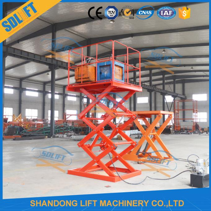2T 3.5M Stationary Scissor Lift Platforms For Warehouse Material Loading