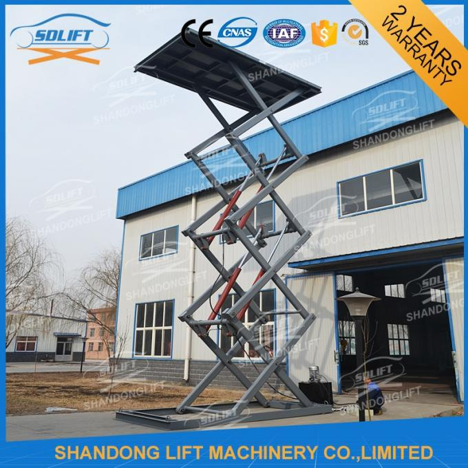 CE Approved Car Lift Outdoor / Portable Hydraulic Scissor Car Lift