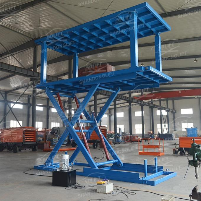 Easy Operation Vehicle Scissor Lift Car Lifts For Home Garage Multi Color