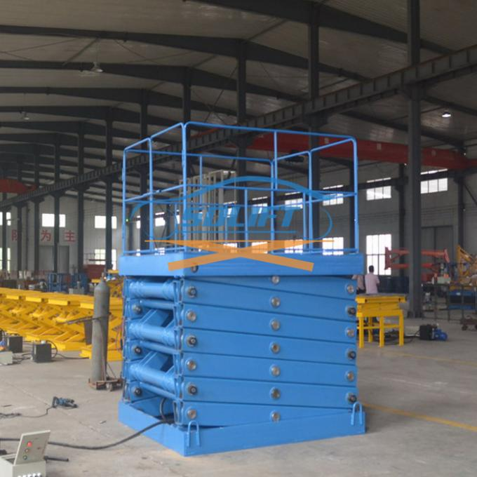 5T 6M Heavy Duty Stationary Hydraulic Scissor Lift Warehouse Cargo Lift With CE