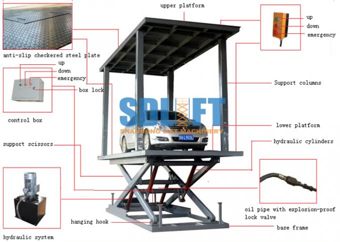 Small Car Lift Hydraulic Car Lift Parking System Outdoor Elevator