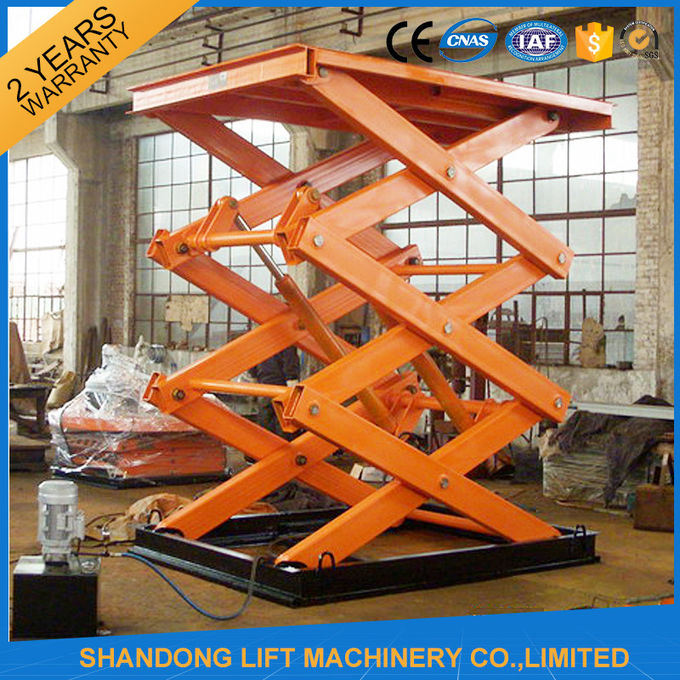 Electro Hydraulic Scissor Lift Table With Explosion Proof Safety Device  2500kgs Loading Capacity