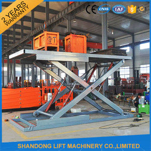 Safety Stationary Hydraulic Scissor Car Lift for Home Garage Car Parking 3.3M Travel Height